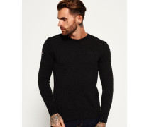 Herren Orange Label Crew Pulli dunkelgrau