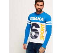 Herren Osaka 6 Sport Panel Langarm-T-Shirt blau