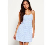 Damen 50's Boardwalk Kleid blau