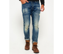Herren Loose Jeans mit konischem Beinschnitt blau