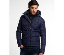 Herren Hooded Box Quilt Fuji Jacke marineblau