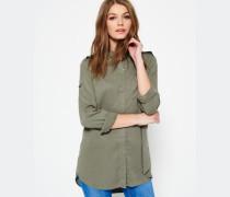 Damen Jackson Oversized Hemd grün