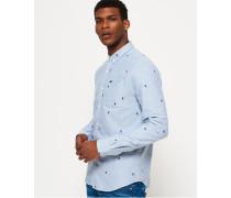 Herren Ultimate Oxford-Hemd vintage ski blau