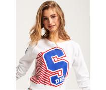 Damen Big S Rundhals-Sweatshirt weiß