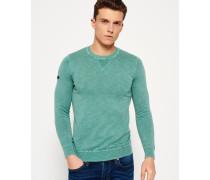 Herren Garment Dyed L.a. Crew Neck Sweatshirt grün