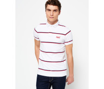 Herren Echo Beach YD Stripe Polo-Shirt weiß