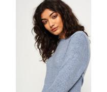 Damen Super Soft Pullover mit Rundhalsausschnitt blau
