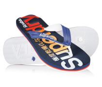 Herren Scuba Logo Faded Flip Flops marineblau