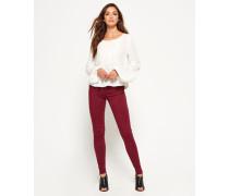 Damen Sophia High Waist Super Skinny Jeans rot