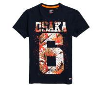 Herren Osaka Hibiscus Infill T-Shirt marineblau