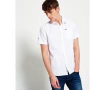 Herren Modernes, klassisches Hemd weiß