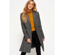 Damen Langer Nordic Mantel grau