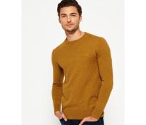 Herren Orange Label Pullover mit Rundhalsausschnitt gelb