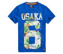 Herren Osaka Hibiscus Infill T-Shirt blau