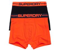 Herren Sport Boxershorts im 2er-Pack orange