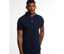 Herren Classic Piqué Polo-Shirt marineblau