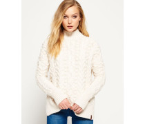 Damen Kiki Cable Strickpulli creme