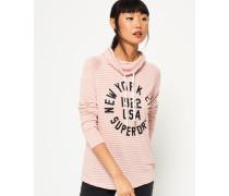 Damen Amour Pullover mit Trichterkragen pink