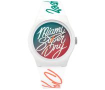 Damen Urban Armbanduhr mit Farbverlauf grün