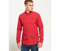 Herren Premium Paperweight Hemd rot