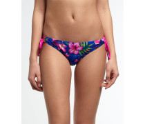 Damen Painted Hibiscus Bikinihöschen marineblau