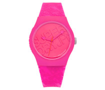 Damen Urban Colour Block Uhr pink