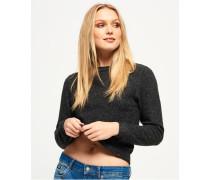Damen Super Soft Pullover mit Rundhalsausschnitt grau