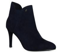 Damen Florence Stiefel mit Pfennigabsatz marineblau