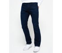 Herren Officer Straight Jeans dunkelgrau