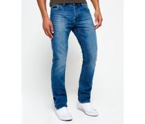 Herren Officer Straight Jeans blau