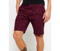 Herren International Globe Trotter Shorts rot