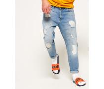 Herren Übergroße Jeans mit konischem Beinschnitt blau