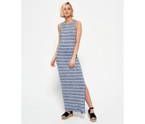 Damen Essential Maxikleid mit Streifen marineblau