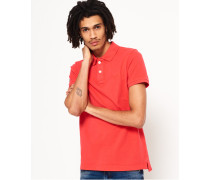 Herren Vintage Destroyed Polohemd aus Pikee rot