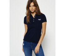 Damen Classic Polo-Shirt marineblau