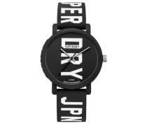 Herren Campus Fluro Block Armbanduhr schwarz