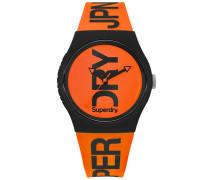Herren Urban Brand Armbanduhr mit Neonfarben orange