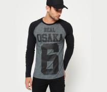 Herren Real Osaka 6 T-Shirt mit Raglanärmeln schwarz