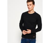 Herren Embossed Vintage Logo Long Sleeve T-Shirt schwarz