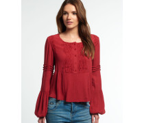 Damen Roswell Lacy Bluse rot