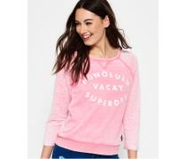 Damen Burnout Pastel Crew Pulli pink