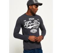 Herren Grade A Langarm-T-Shirt Grey