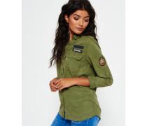 Damen Military Hemd grün