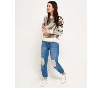 Damen Harper Boyfriend-Jeans blau