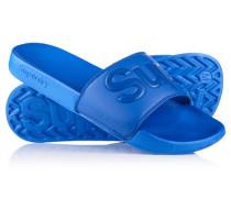 Herren Pool Slider Sandalen blau
