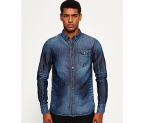 Herren IE Ghost Button-Down Jeanshemd blau