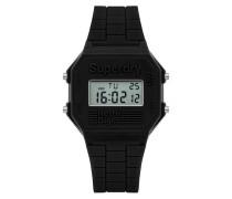 Herren Retro Digi Colour Block Armbanduhr schwarz