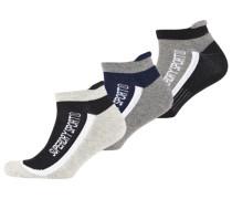 Herren Sport Runner Socken im Dreierpack grau