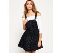 Damen Latzkleid mit Print schwarz