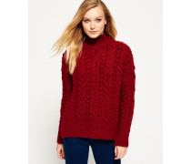 Damen Kiki Cable Strickpulli rot